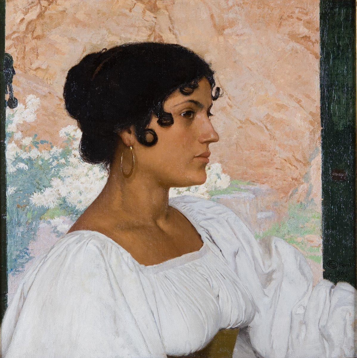 Edward Okuń - Ritratto di Vittoria Ciaccia 1907