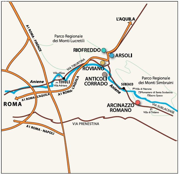 Medaniene Mappa Territorio