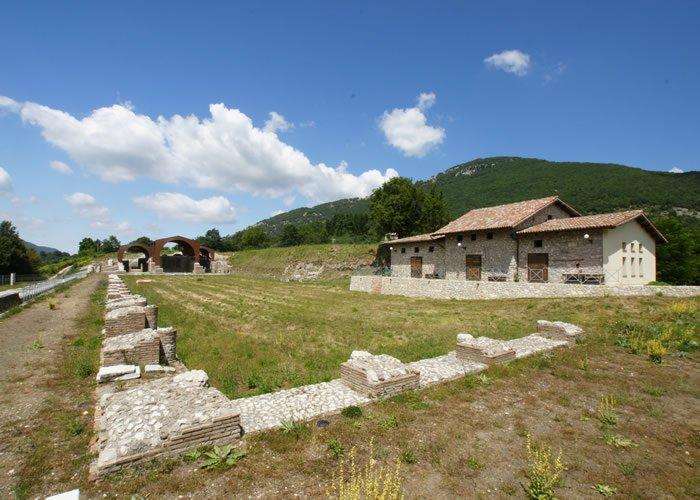Museo Civico Archeologico Villa di Traiano - Vista panoramica della Platea Inferiore