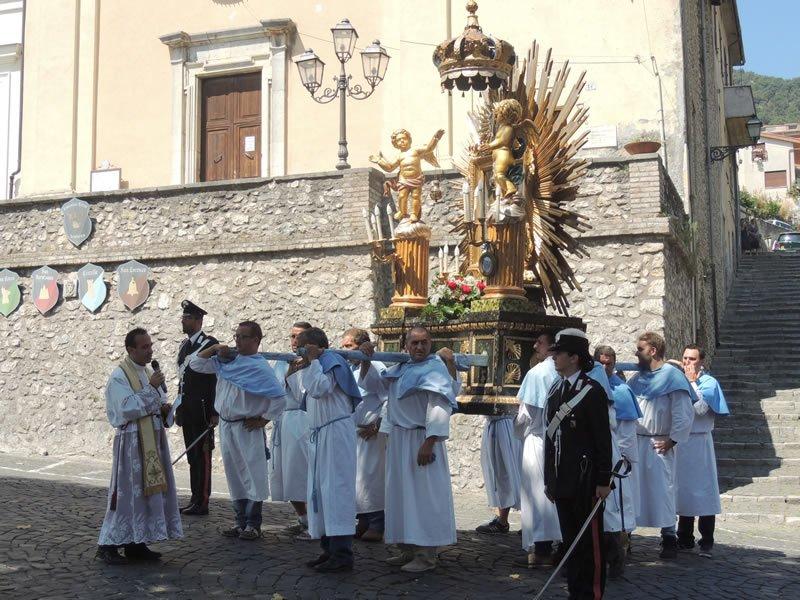 Processione della Vergine di Guadalupe 2014_macchina processionale