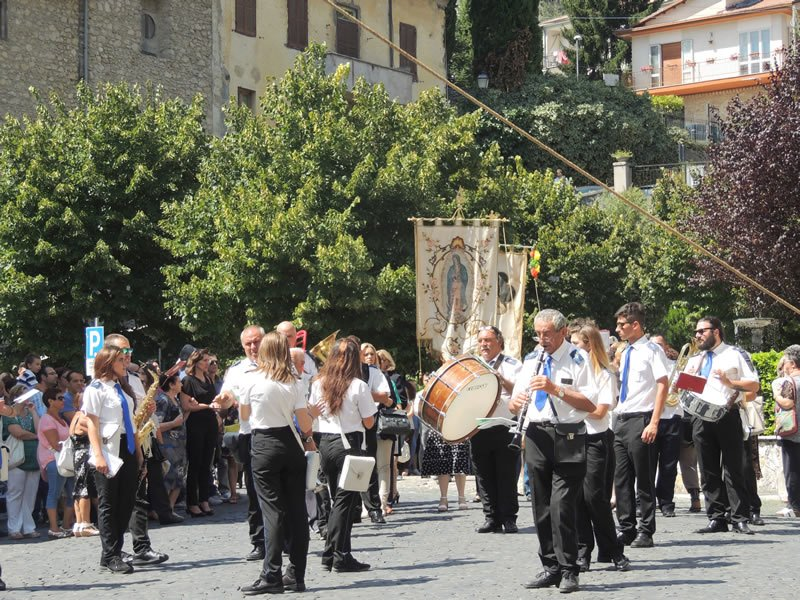 Processione della Vergine di Guadalupe 2014_la banda di Arsoli