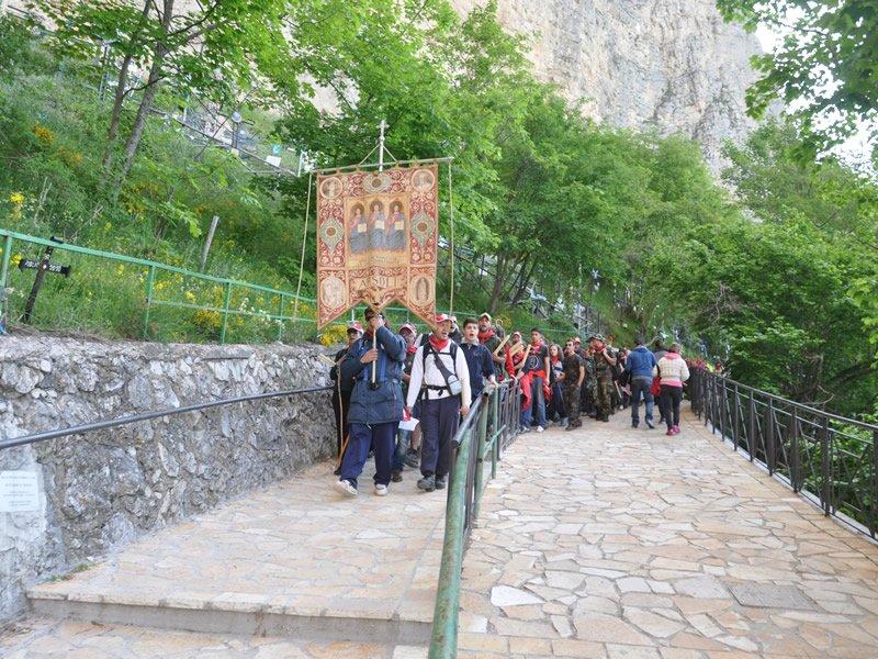 Pellegrinaggio alla SS. Trinita di Vallepietra 2012_Compagnia di Arsoli 2