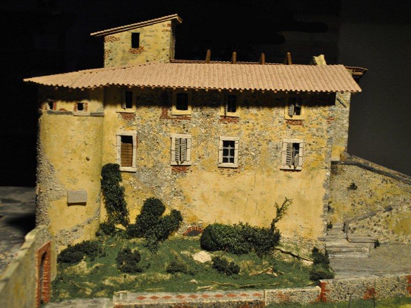 Foto_13: Museo di Riofreddo - Plastico del Castello Colonna - Del Drago - Pelagallo