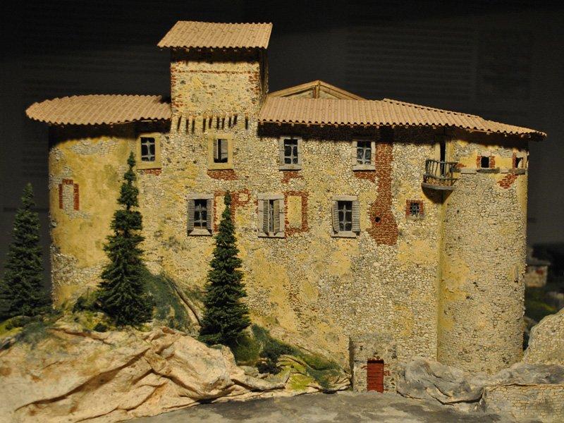 Foto_14: Museo di Riofreddo - Plastico del Castello Colonna - Del Drago - Pelagallo