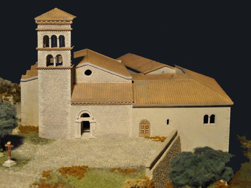 Foto_15: Museo di Riofreddo - Plastico del Convento e della Chiesa di S. Giorgio