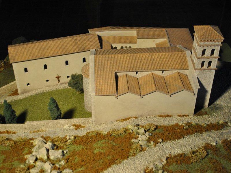 Foto_16: Museo di Riofreddo - Plastico del Convento e della Chiesa di S. Giorgio